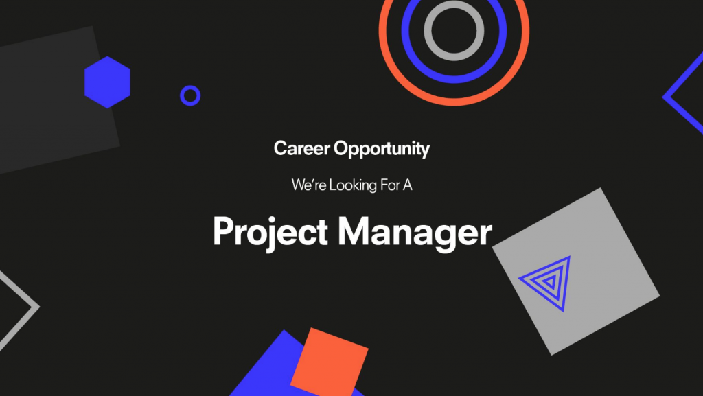 Image for Job Opening! We're Looking for a Project Manager 👀